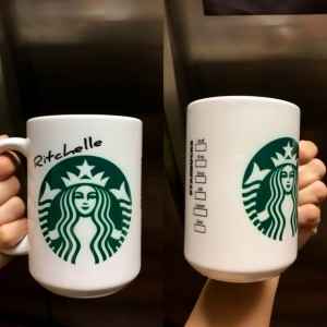 Custom Made Starbucks style 15oz Coffee Mug with your name