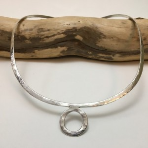 Forged Silver Torc Necklace