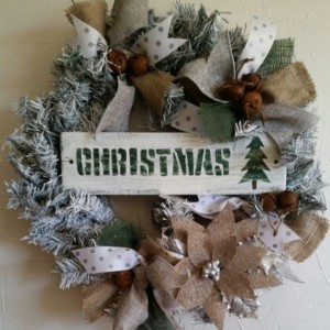 Rustic, handmade Christmas wreath