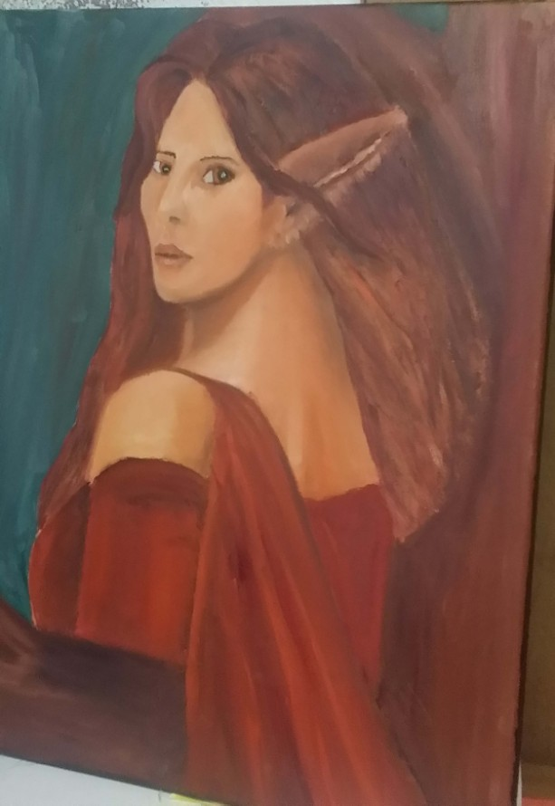 Elf Oil Painting 16 x 20