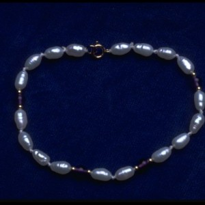 14 K Gold Freshwater Pearl, Black Onyx, 14K beads,  Necklace 20 inches.