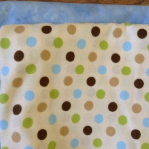 Blue Polka Dot Flannel baby blanket, Receiving blanket baby shower gift gender neutral, Baby GIRL BOY  burp cloths Swaddle Personalized
