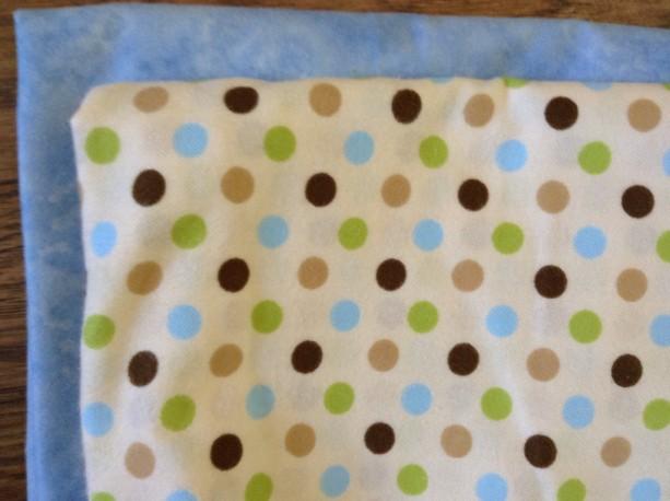 Blue Polka Dot Flannel baby blanket, Receiving blanket baby shower gift gender neutral, Baby GIRL BOY  burp cloths Swaddle Personalized