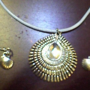 Beach Theme Jewelry Set Homemade ring, earring, necklace, bracelet