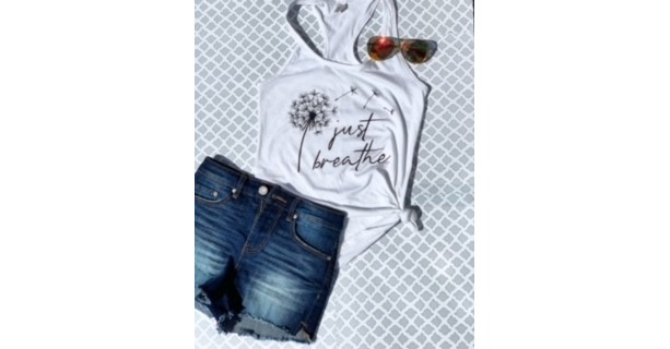 Just Breathe Tank Top