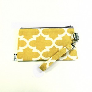 Medium Wristlet Zipper Pouch Clutch - Mustard Fulton