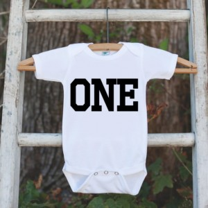 First Birthday Boy Outfit - One 1st Birthday Onepiece For Boys's 1st Birthday Party - Baby Boy Birthday Shirt - Kids First Birthday Outfit