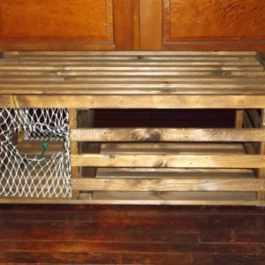 """Handmade """"HONEY STAINED"""" Wooden Lobster Trap Coffee Table Made in Maine"""