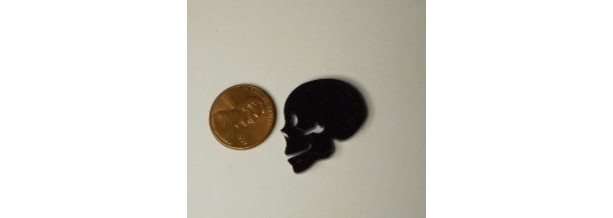 12 skulls,laser cut,tiny skulls,kawaii,skull charms,halloween,