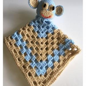 Crochet baby monkey blankie