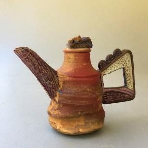 Tea Pot Pottery Handmade Sculptural Functional Hand-Built