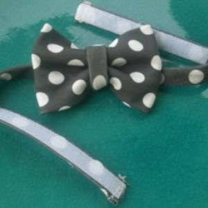 Organic Cotton Polka Dot Boy's Adjustable Bow Tie