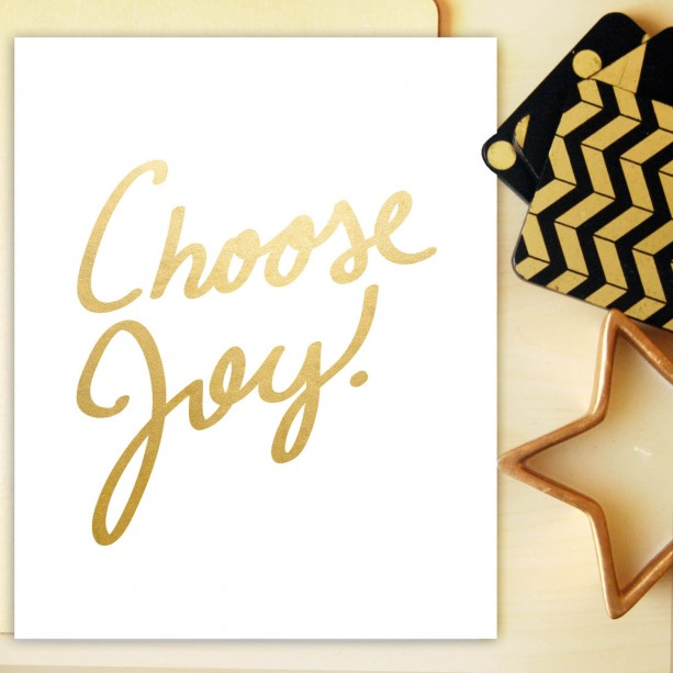 Choose Joy  | Inspirational Art Print | Gold Lettering | Office Decor | Joy Art Print | Encouragement Quote | Minimalist Poster | Motivation