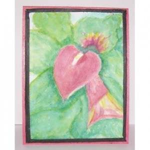 Calla Lily, Hand Painted Watercolor Card