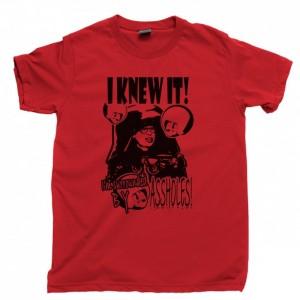 Spaceballs Men's T Shirt, Dark Helmet I Knew It I'm Surrounded By Assholes Mel Brooks John Candy Movies Unisex Cotton Tee Shirt