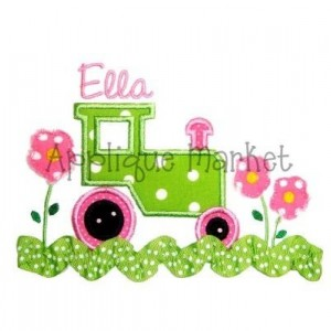 Custom Personalized Machine Applique Tractor Shirt