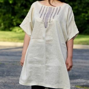 Linen Tunic Dress Linen Top Natural Linen