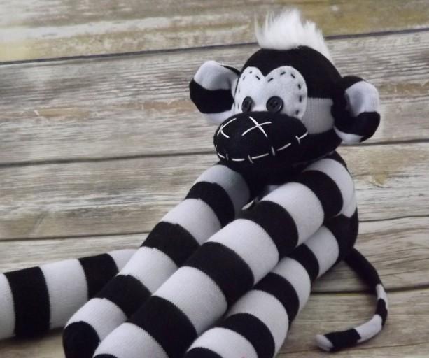 Sock monkey : Mark ~ The original handmade plush animal made by Chiki Monkeys