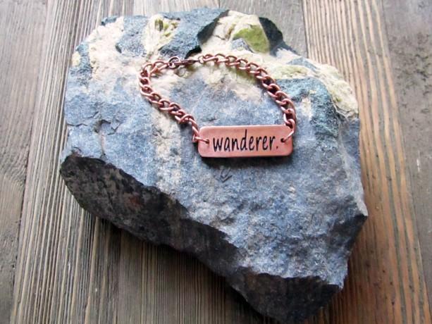 Copper 'Wanderer' Metal Clay Bracelet