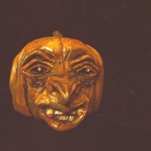 Halloween Pumpkin Head Draculantern Rotten Gothic Fangs Pumpkin Of Doom Statue Macabre Morbid Creepy Orange Gothic Spooky Prop Horror Decor