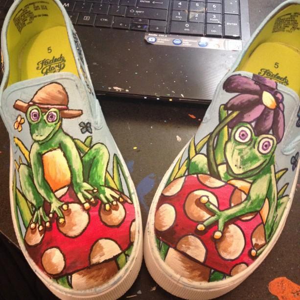 Cartoon Frog Shoes