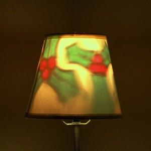 Hand-Painted Holly Mood-Light Bulb