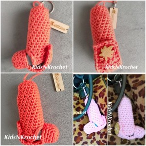 Asthma inhaler holder cozy / cover key chain