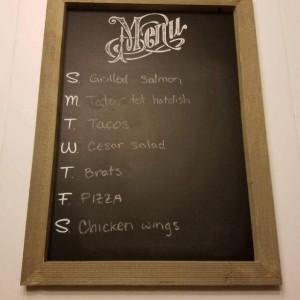 Barnwood Menu Chalkboard Sign