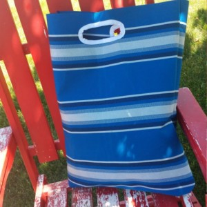 Blue Stripe Market/Shopping Tote