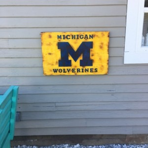 Michigan Wolverines Sign