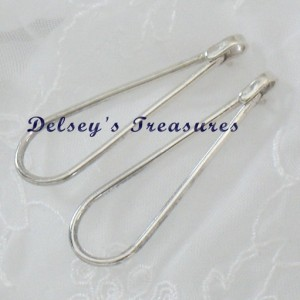 Fashion Oblong Teardrop Sterling Silver Earrings