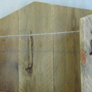 Pallet Wood Entryway Organizer, Pallet Key Hooks with Shelf, Sunglasses Holder, Rustic Home Decor