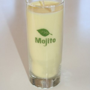 Pineapple Cilantro Scented Soy Wax Mojito Glass Candle