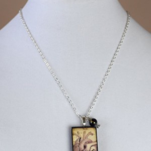AS IS SALE - Anatomical Heart Pendant with 18 Inch Chain