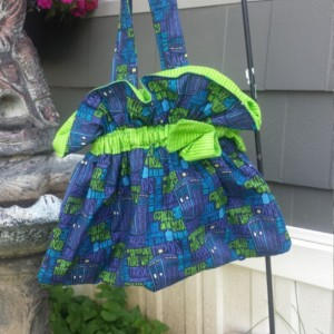 Doctor Who Printed Cotton Scrunchy Shoulder Purse- OoaK