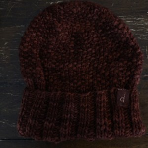 Brown Merino Wool Beanie