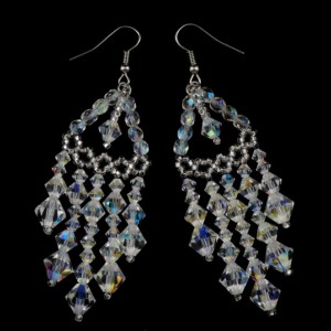 Preciosa crystal beaded chandelier earrings. crystal chandelier earrings. crystal tiered chandelier earrings. chandelier bridal earrings