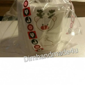 Reindeer poop Embroidered Toilet paper. Great gift! Comes gift wrapped!