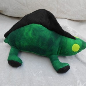 Forest Green  Dimetrodon Dinosaur with Black Ridge