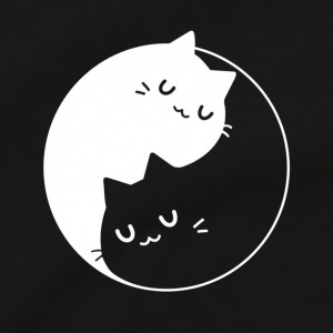 Yin Yang Cats T Shirt, Feline Animal Lover Purrfect Kitty Cat Lady Men's Unisex Cotton Tee Shirt