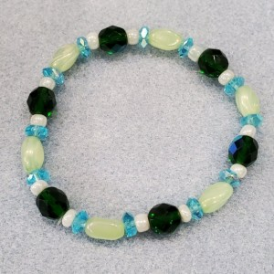 blue and green bracelet
