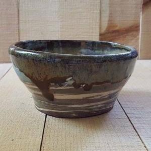 Marbled Pottery Bowl/Salsa Bowl/Serving Bowl,/ Change and Key Bowl