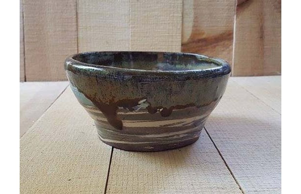 Marbled Pottery Bowl/Salsa Bowl/Serving Bowl,/ Change and Key Bowl