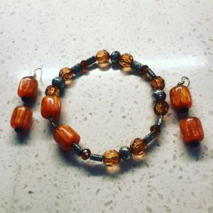 Blorange cuff and earrings are made for the BBWs that radiate elegance and class