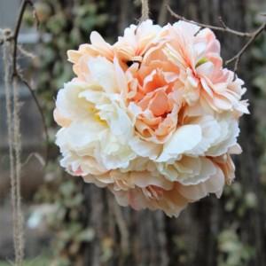 Peachy Cream Kissing Ball