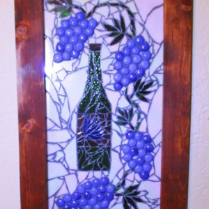 "Large Wall Art, 27""x16"", Mosaic Wall art, Tuscany, Stained glass art stained glass"