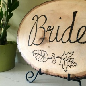 Custom Rustic Wedding Sign for Bride/Groom Reception Chairs (Pyrography, Rustic Wedding, Country Wedding)