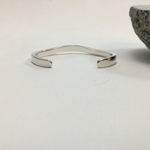 Silver Top-Forged Bracelet - Size 6.5