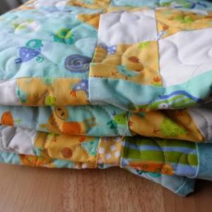 Baby boy barnyard critters quilt