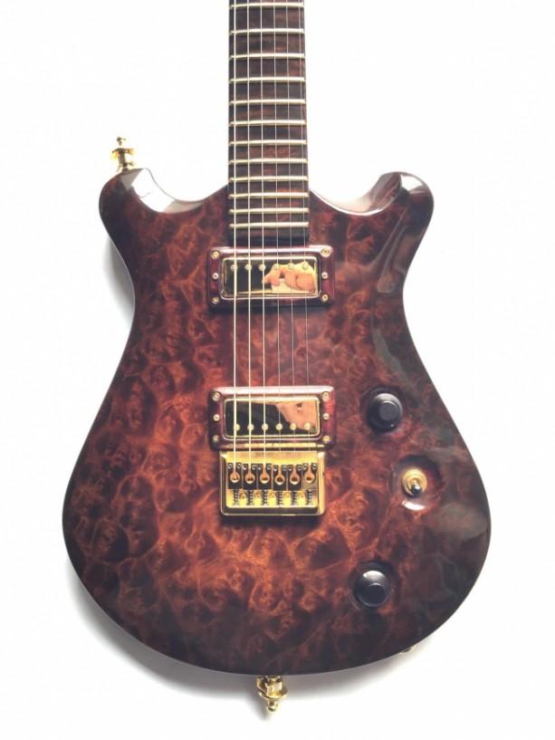 (SOLD) Anu Guitars Camphor Burl Baltu